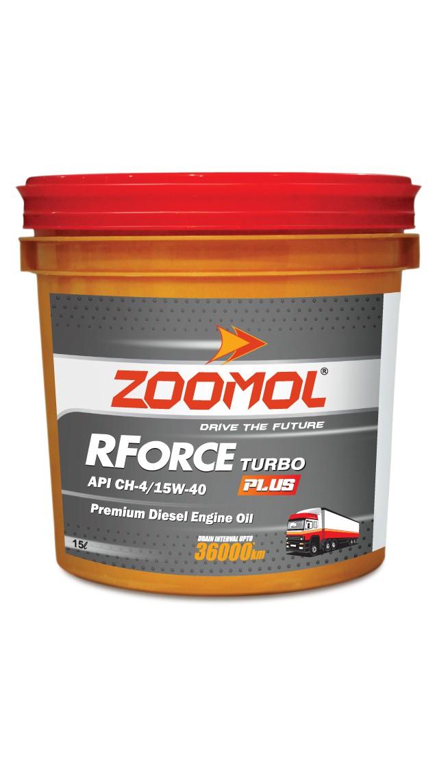 ZOOMOL RFORCE TURBO PLUS, 15W-40 CH-4