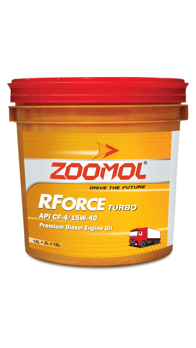 ZOOMOL RFORCE TURBO, 15W-40 CF-4